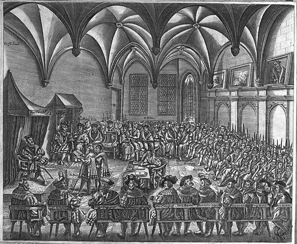 """Christian Beyer verliest vor Kaiser Karl V. die """"Confessio Augustana"""""""