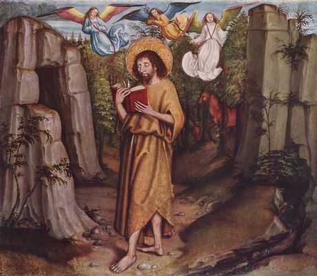 Berner Nelkenmeister: Johannes der Täufer in der Wüste