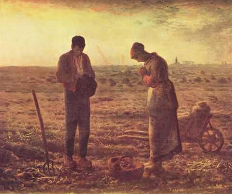 Das Angelusläuten, Jean-François Millet, 1859